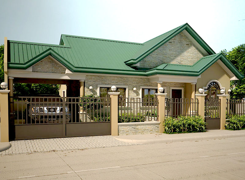 Good Bungalow Houses In The Philippines Design Part - 12: Floor Plan Code: SHD-20120002   90 Sq.m.   3 Beds   2 Baths