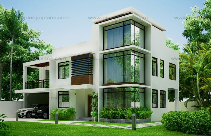 Modern house design 2012002 pinoy eplans for Modern glass house floor plans