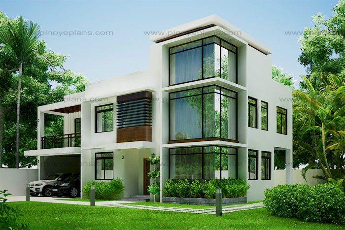 Modern house design 2012002 pinoy eplans for Architecture modern house design 2 point perspective view