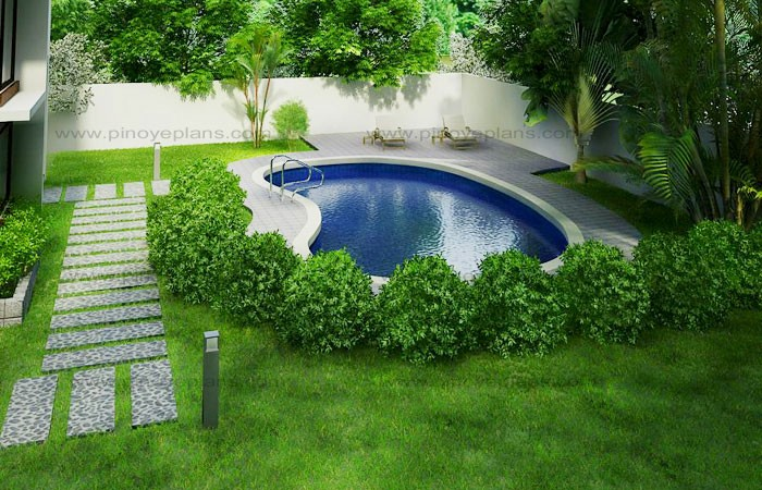 Modern house design 2012002 pinoy eplans Red house hotel swimming pool