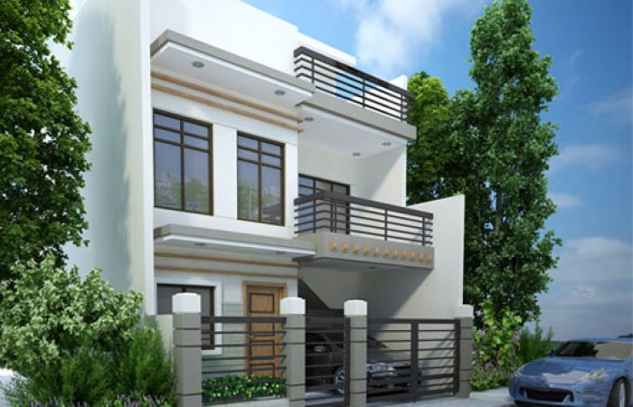 Modern house designs series mhd 2012007 pinoy eplans for 3 storey terrace house design