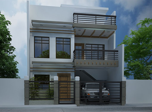 Modern house designs series mhd 2012007 pinoy eplans for Eplans contemporary house plans