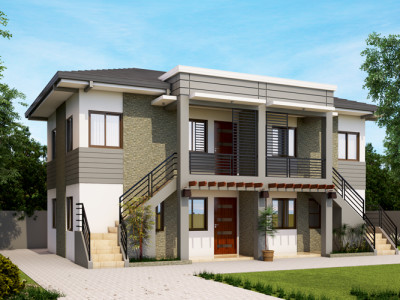 Duplex house plans pinoy eplans for Modern duplex house designs