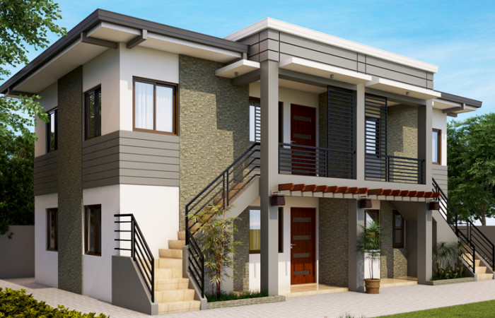 apartment and duplex house