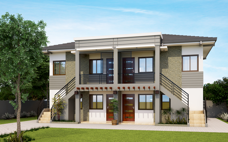 Apd 2013001 pinoy eplans for Modern triplex house designs