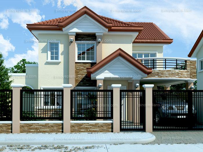 (Floor Plan Code # MHD 2012005). Modern House Design 2012005 Perspective3a