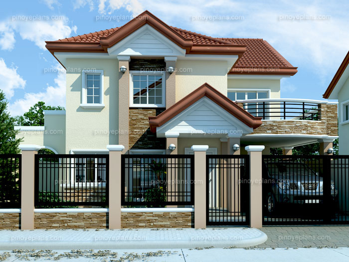 Two Storey Modern House Designs Modern House Design 2012005  Pinoy Eplans