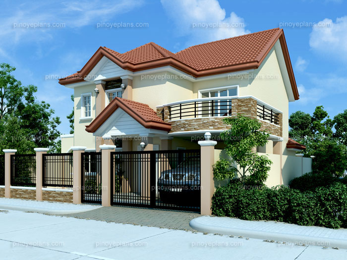 Modern house design 2012005 pinoy eplans for Simple house design with floor plan in the philippines