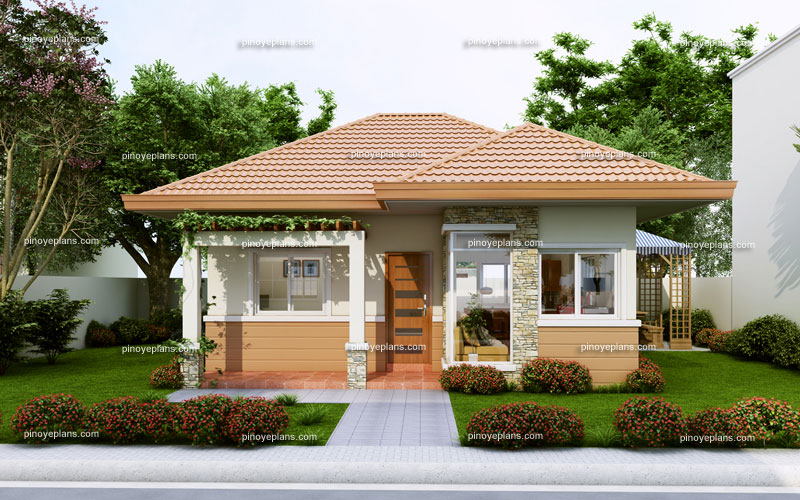 Small house design series shd 2014008 pinoy eplans for Simple bungalow house design with terrace