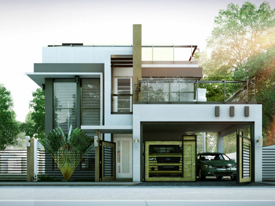 Two Storey Modern House Designs Two Storey House Plans  Pinoy Eplans