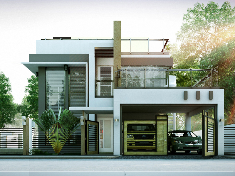 Modern house designs series mhd 2014010 pinoy eplans for Design duplex house architecture india