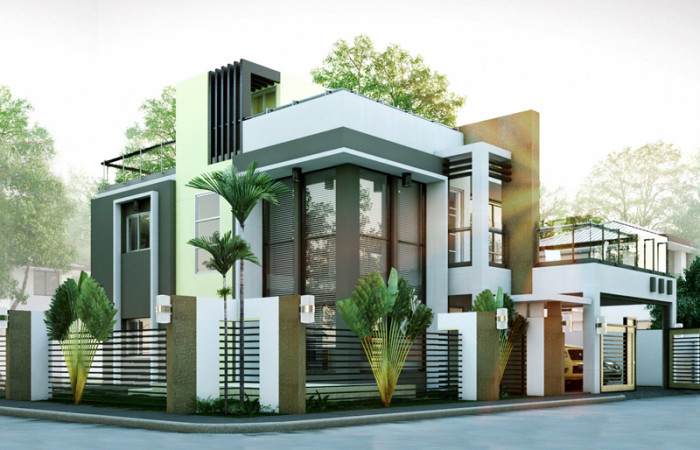 Modern house designs series mhd 2014010 pinoy eplans for Modern house layout plans