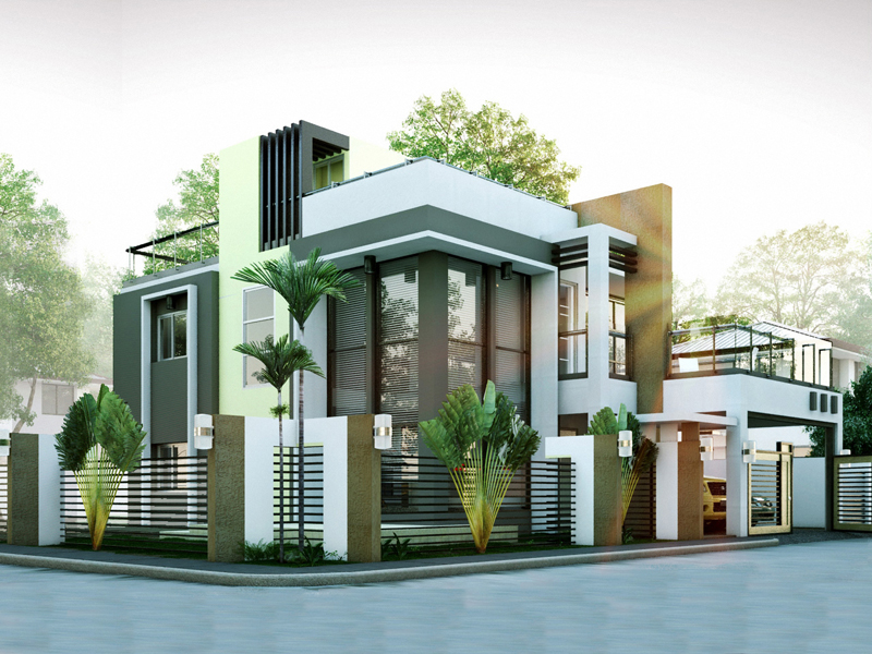 Modern house designs series mhd 2014010 pinoy eplans for Modern mansion house designs
