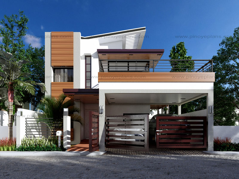 Modern house design series mhd 2014012 pinoy eplans for Small house exterior design philippines