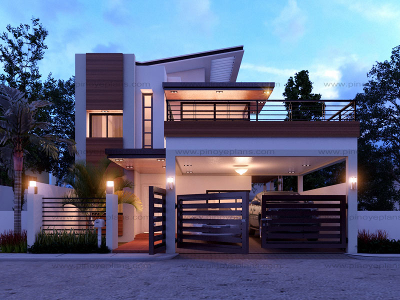 Modern house design series mhd 2014012 pinoy eplans for Small modern house plans with loft