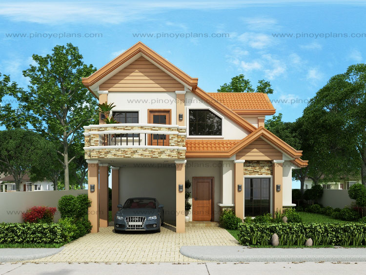Modern house design series mhd 2014013 pinoy eplans for 10m frontage home designs