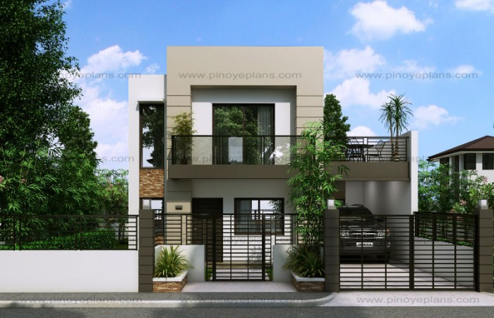 Modern house design series mhd 2014014 pinoy eplans for Modern 3 bedroom house with garage