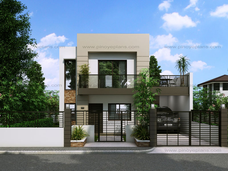 Modern house design series mhd 2014014 pinoy eplans Small double story house designs