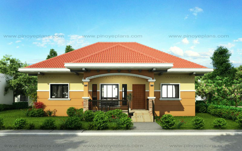 SHD 2015010 FRONT VIEW WM - Get Small House Design Bungalow Gif