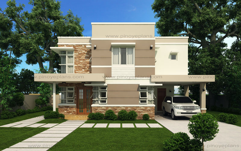 Modern house design series mhd 2012006 pinoy eplans for Home design home design