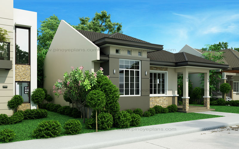 Small house design shd 2015013 pinoy eplans for Bungalow house with firewall
