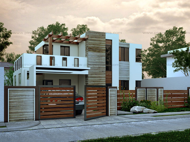 Modern house design series mhd 2015015 pinoy eplans for Small modern house plans two floors