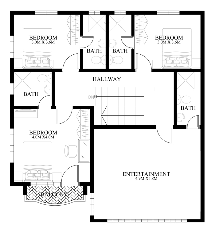 Contemporary-house-design-MHD-2014011-second-floor