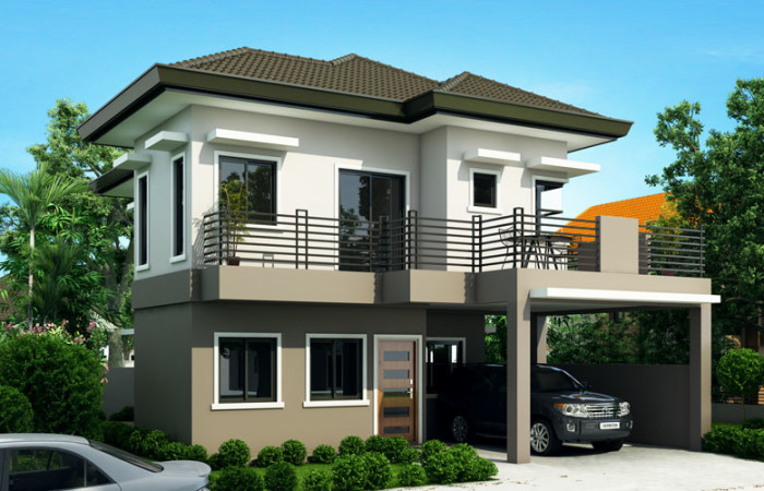 Sheryl - Four Bedroom Two Story House Design   Pinoy ...