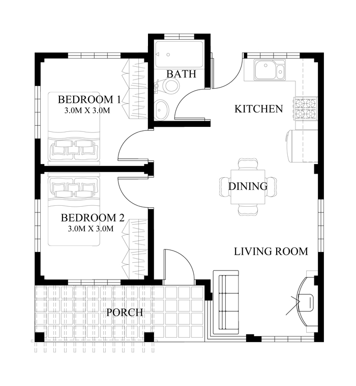 Floor Plan Small House Design Shd 2016008 Pinoy Eplans