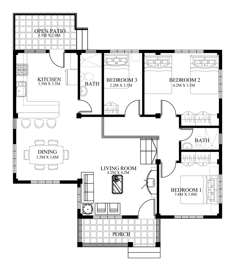 small house floorplans small house designs series shd 2014006v2 eplans 14946
