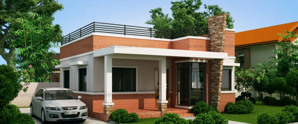 rommell one storey modern with roof deck 60 sqm 2 beds 1 baths - Small Designs 2