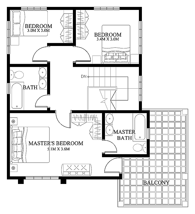 Gentil » Modern House Design 2012004 Second FloorPinoy EPlans