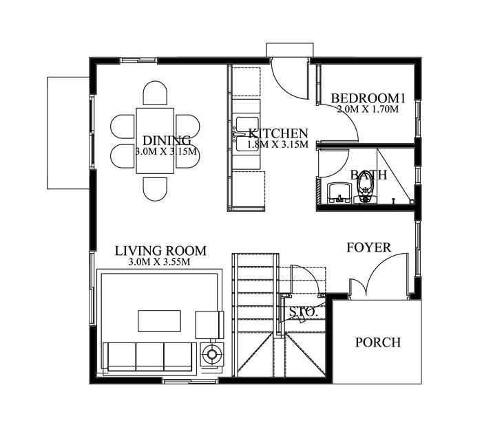 Modern House Design Series: MHD-2015016 | Pinoy ePlans