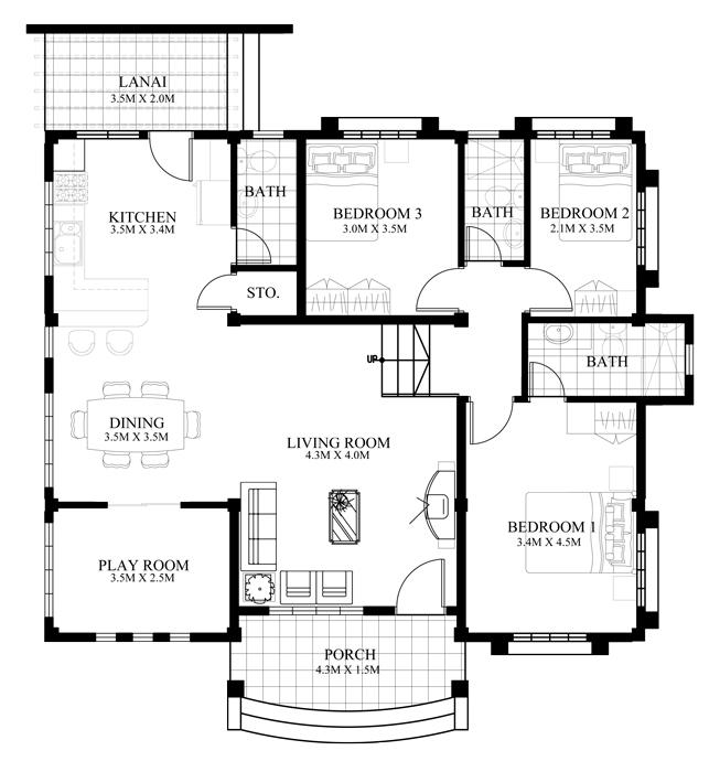 Small house design 2014007 floor planpinoy eplans