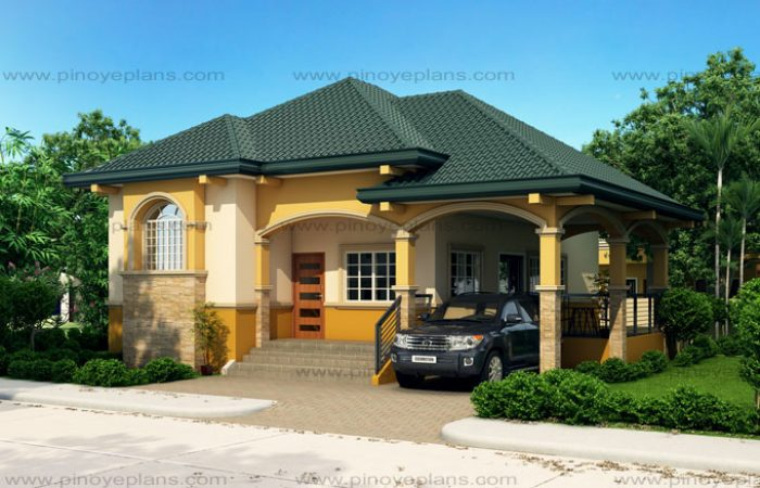 Althea elevated bungalow house design pinoy eplans for Elevated small house design