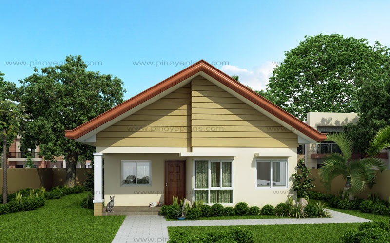 Alexa simple bungalow house pinoy eplans for Front look of small house