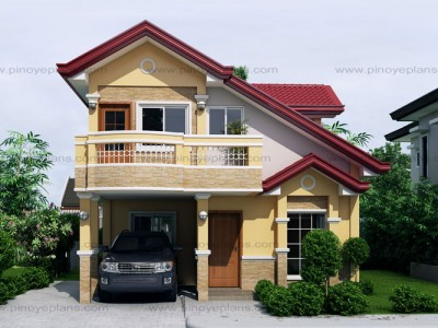 Johanne 2 story house plan with firewall pinoy eplans