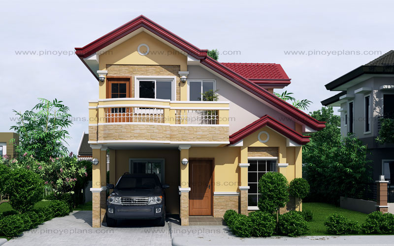 Sarah dramatic open to below two storey house pinoy eplans for Eplans home design