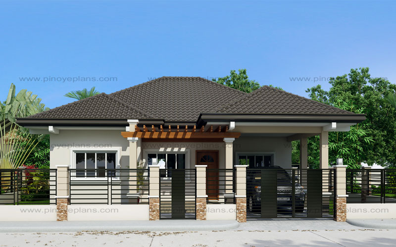 Clarissa one story house with elegance shd 2015020 for One story modern house plans