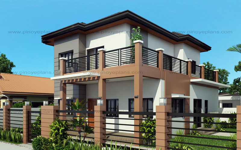 Marcelino four bedroom two storey mhd 2016021 pinoy for Eplans home design