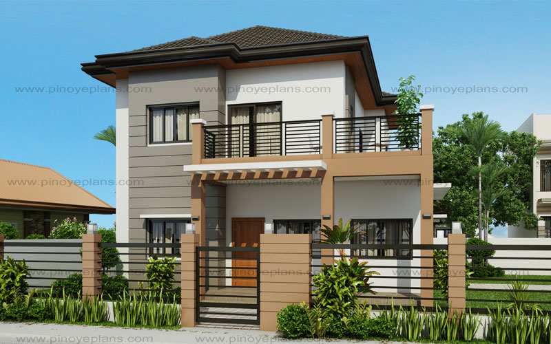 Marcelino four bedroom two storey mhd 2016021 pinoy Two story house plans with balcony