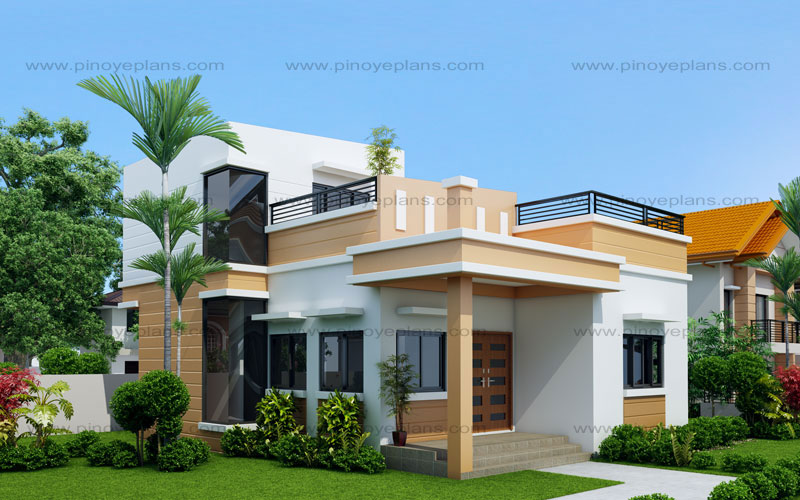 Maryanne one storey with roof deck shd 2015025 pinoy Home plans with rooftop deck