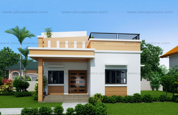 SHD 2015025 DESIGN2 View02WM 700x450 - 44+ Simple Small Box Type House Design In The Philippines Pictures