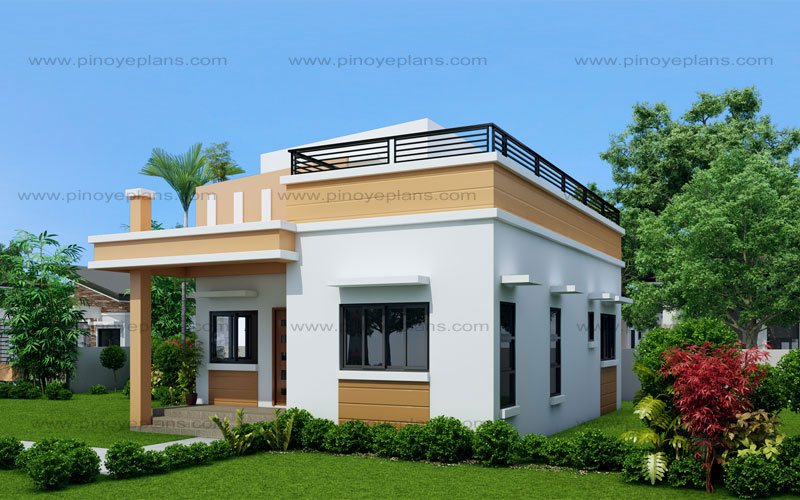 Maryanne one storey with roof deck shd 2015025 pinoy for House design in small area
