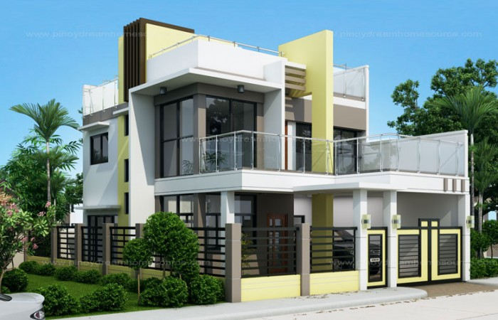 Prosperito - Single Attached Two Story House Design with