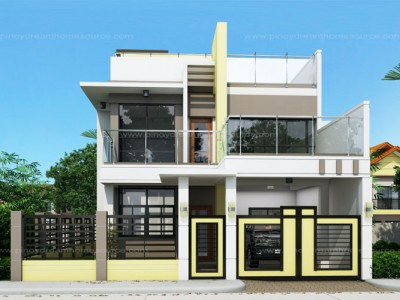 Two Storey House Plans on Simple One Story Modern House Design