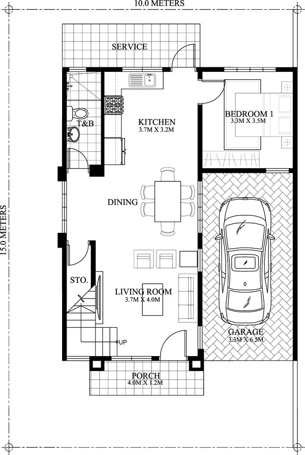 Dexter model ground floor plan
