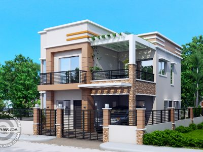 Two story house designs pinoy eplans for Normal home front design