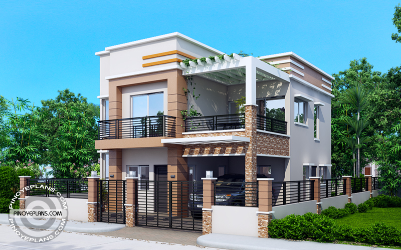 Carlo 4 bedroom 2 story house floor plan pinoy eplans for Normal house front design