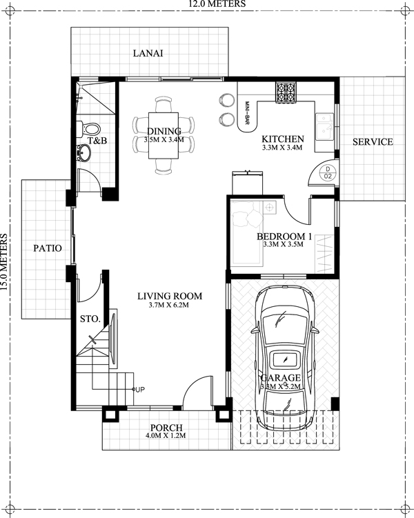 Carlo 4 bedroom 2 story house floor plan pinoy eplans for 4 bedroom two story house plans